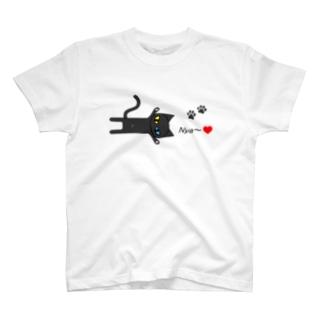 黒猫Nya~! T-shirts