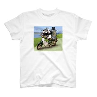 パンダinぱんだ(出前) T-shirts