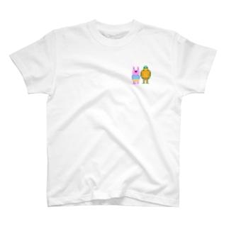 ドット絵ウサカメ T-shirts