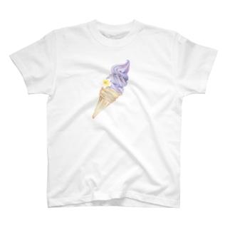 プルメリア付きアイス T-shirts