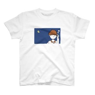 眠いけど勉強頑張る女の子 T-shirts