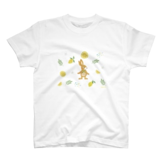うさぎとレモンTシャツ T-shirts