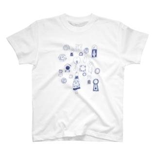 時計ぐるぐる T-shirts