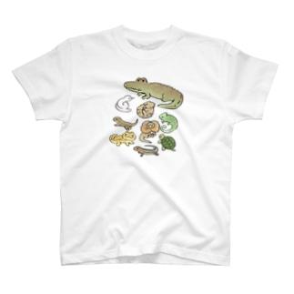 爬虫類 T-shirts