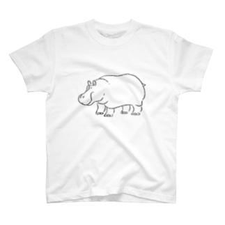 カバさん(立ち) T-shirts