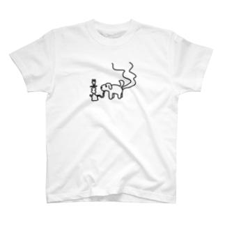 シーシャ犬(横) T-shirts