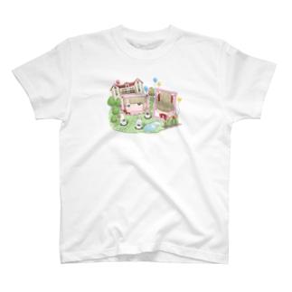 お嬢様とゆかいなメイドちゃんたち T-shirts