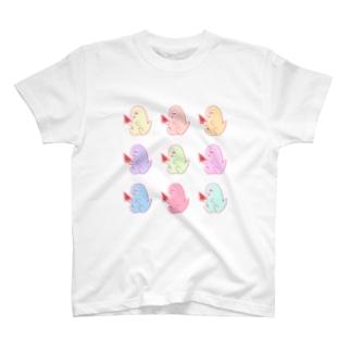 も~の夏のカラフル♡スイカも〜さん T-shirts