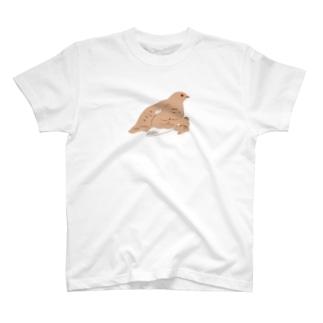 ライチョウ親子 T-shirts