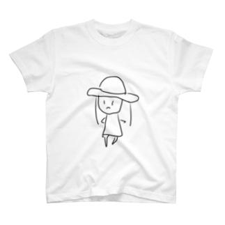 むぎわらの女の子 T-shirts