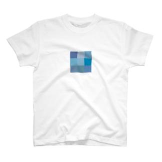 ブルーTシャツ T-shirts