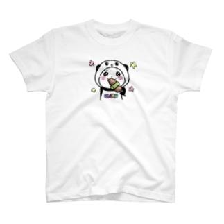 パンダinぱんだ(おにく) T-shirts