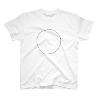 袴田章子/Shoko HakamadaのMARU-緑 T-shirts
