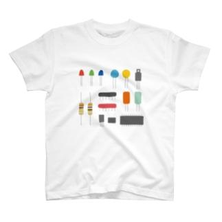 電子パーツみたいなやつ T-shirts