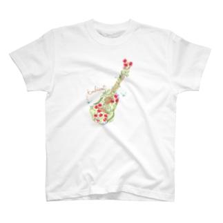 お花ギター T-shirts
