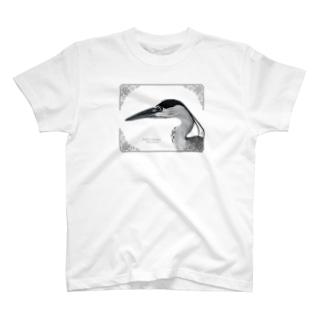 アオサギ(モノクロ) T-shirts