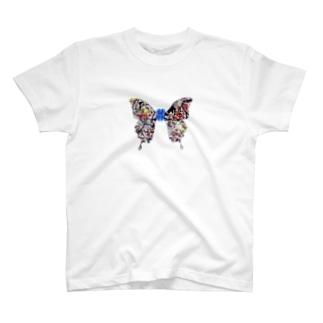 ButterflyWings~Pollock T-shirts