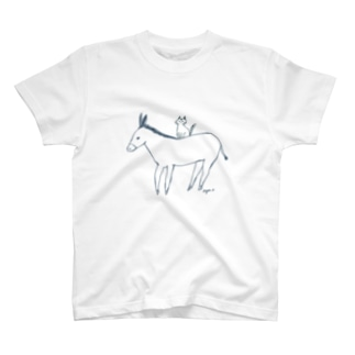 ロバと猫 T-shirts