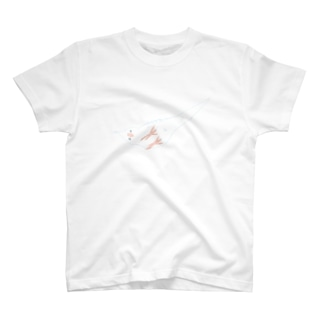 オカメインコ定点観測の下からオカメインコ ホワイトフェイスルチノー T-shirts