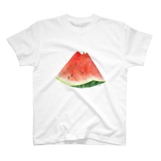 スイカ登山Tシャツ T-shirts