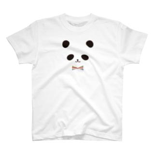 カラフル蝶ネクタイ パンダ T-shirts