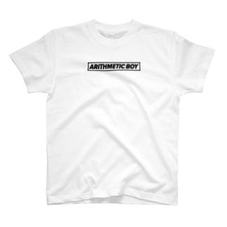算術少年(黒文字) T-shirts