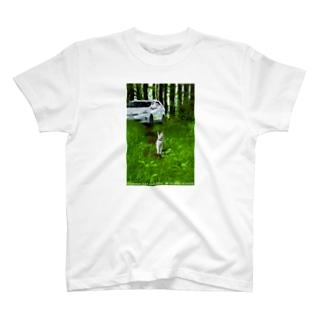 ネコと一緒に T-shirts