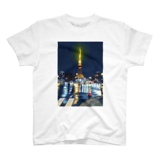 東京タワー×カラーコーン T-shirts
