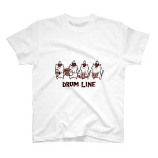 ドラムラインねこさん T-shirts