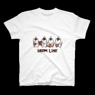 るるてあのドラムラインねこさん T-shirts