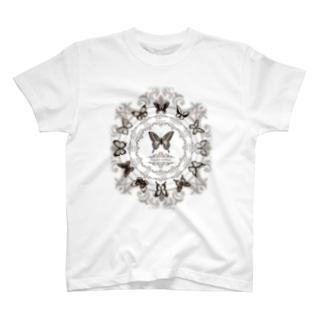 13 butterflies sepia T-shirts