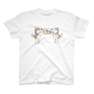 乾杯してるハスキー3 T-shirts