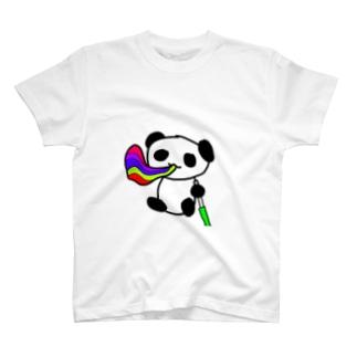 カラフルシーシャぱんだ T-shirts