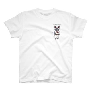 シャム猫ちゃん風🐈🌸ずっと一緒にいるからね T-shirts