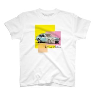 レトロカーTシャツ ライトブルー T-shirts