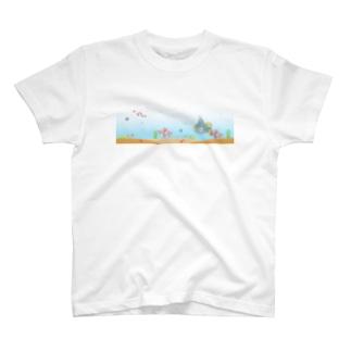 にゃんこの潜水艦海中散歩 T-shirts