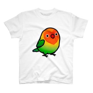 両面 Chubby Bird ルリゴシ ボタンインコ T-shirts