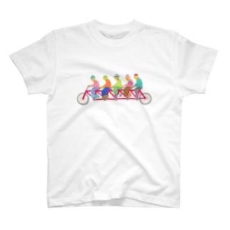 タンデム自転車 T-shirts