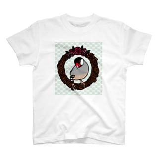 リースと文鳥(桜) T-shirts