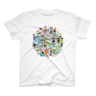 ヲカシなマリンクラブ2019集合 T-shirts