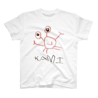 4才が描いたKAMI(誤字) T-shirts