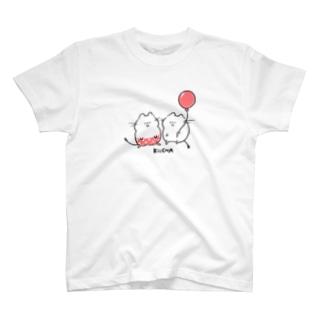 ぱんつデグーと風船デグーピンク T-shirts