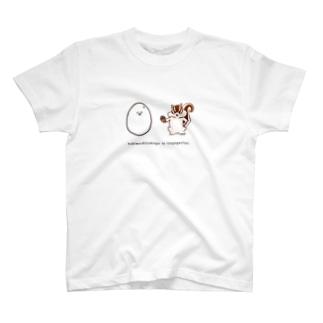 泣き虫たまごと強がリス(simple) T-shirts