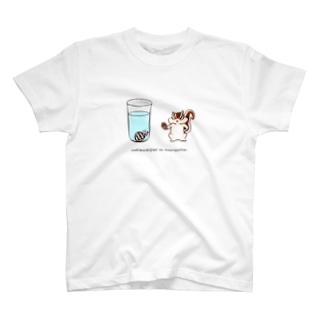 泣きむシジミと強がリス(simple) T-shirts