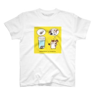 泣きむシジミと強がリス(color) T-shirts