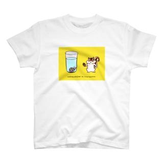 泣きむシジミと強がリス(simple2) T-shirts