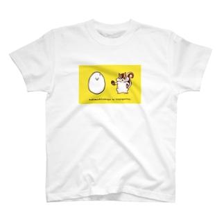 泣き虫たまごと強がリス(simple2) T-shirts