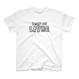 KeepOnLIVRE(白黒LOGO) T-shirts