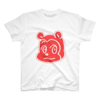 熊Tシャツ(赤) T-shirts