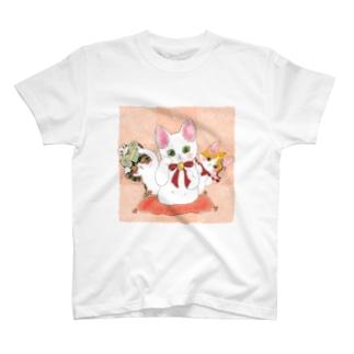 招き猫Tシャツ T-shirts